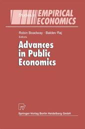 Advances in Public Economics