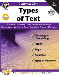 Common Core  Types of Text PDF