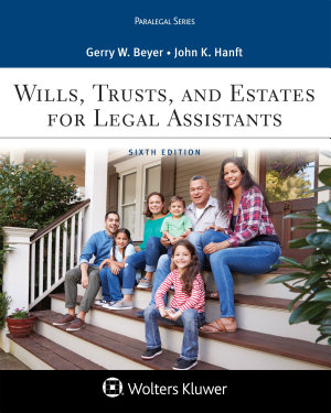 Wills  Trusts  and Estates for Legal Assistants PDF