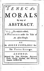 Morals, by Way of an Abstract. To which is Added a Discourse Under the Title of An After-thought