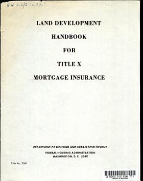 Land Development Handbook for Title X Mortgage Insurance PDF