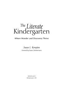 The Literate Kindergarten PDF