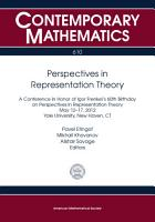 Perspectives in Representation Theory PDF