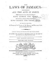 The Laws of Jamaica: 1760-1792