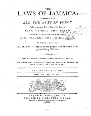 The Laws of Jamaica  1760 1792 PDF