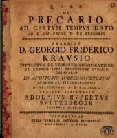 De precario ad certum tempus dato ad L XII princ. d. de precario