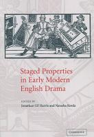 Staged Properties in Early Modern English Drama PDF