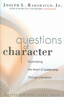 Questions of Character Book
