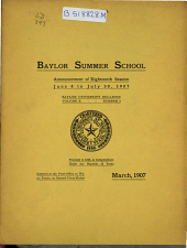 The Baylor Bulletin: Volume 10, Issue 2