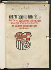 Exercitium veteris artis in studio Erfordiensi collectum