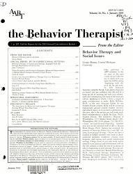 The Behavior Therapist Book PDF