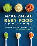 Make Ahead Baby Food Cookbook Book PDF