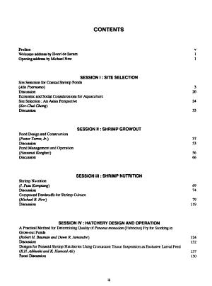 Technical and Economic Aspects of Shrimp Farming