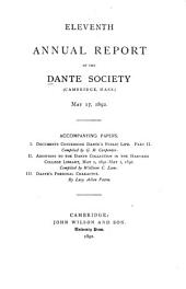 Annual Report of the Dante Society: Volumes 11-20