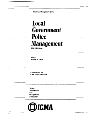 Local Government Police Management PDF
