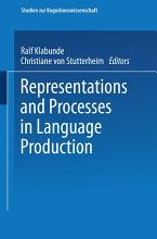 Representations and Processes in Language Production PDF