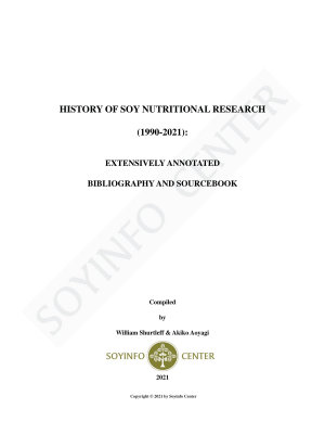 History of Soy Nutritional Research  1990 2021