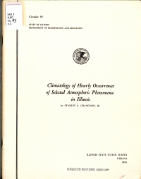 Climatology of Hourly Occurrences of Selected Atmospheric Phenomena in Illinois PDF