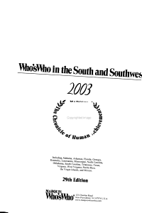 Who s who in the South and Southwest PDF