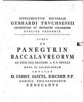 Supplementum Historiae Gebharti Truchsessii, archiep. et Septemviri Coloniae
