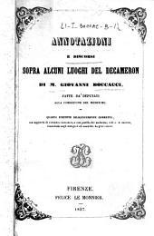 Annotazioni e discorsi sopra alcuni luoghi del Decameron di M. Giovanni Boccacci, fatte da deputati alla correzione del medesimo