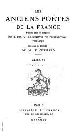 Les anciens poètes de la France: Volume10
