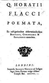 Q. Horatii Flacci Poemata, etc