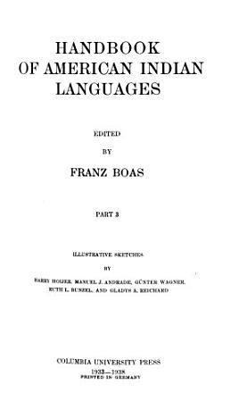 Handbook of American Indian Languages PDF