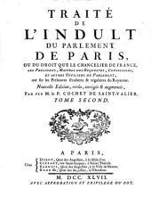 Traité de l'indult du parlement de Paris: Volume2