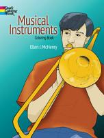 Musical Instruments Coloring Book PDF