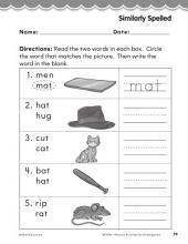 Kindergarten Foundational Phonics Skills: Similarly Spelled