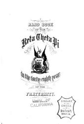 Handbook of the Beta Theta Pi in the Forty-eighth Year of the Fraternity