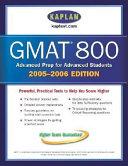 Kaplan GMAT 800 2005 2006 PDF