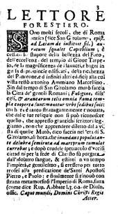 Roma ricercata nel suo sito e nella scuola di tutti gli antiquarii