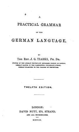 A Practical Grammar of the German Language PDF