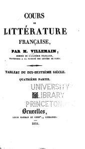 Cours de littérature française: Volume4