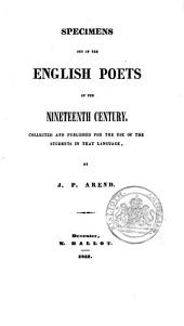 Specimens Out of the English Poets of the 19th Century: Volume 1