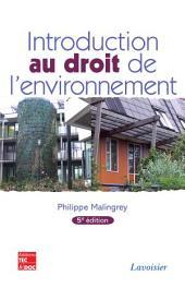 Introduction au droit de l'environnement (5e ed.)