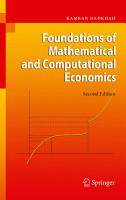 Foundations of Mathematical and Computational Economics PDF