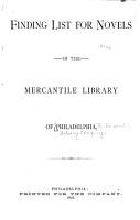 Finding List for Novels in the Mercantile Library of Philadelphia PDF