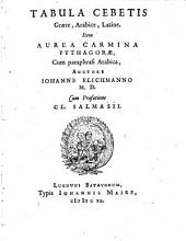 Tabula graece, arabice, latine