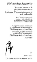 Download Proceedings of the Seminar of History of Mathematics  Heidelberg Nancy Strasbourg  1995 1996  Book
