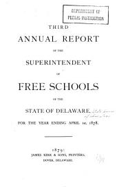 Annual Report of the State Board of Education and of the Commissioner of Education of Delaware