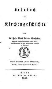 Lehrbuch der Kirchengeschichte: Band 1,Ausgabe 2