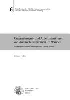 Unternehmens  und Arbeitsstrukturen von Automobilkonzernen im Wandel PDF