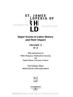 St  James Encyclopedia of Labor History Worldwide PDF