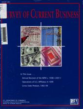 Survey of Current Business: Volume 81, Issue 8
