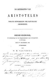 De beteekenis van Aristoteles voor de ontwikkeling der natuurlijke geschiedenis: Redevoering, ter aanvaarding van het hoogleeraarsambt aan de Hoogeschool te Groningen, den 6den December 1866 uitgesproken