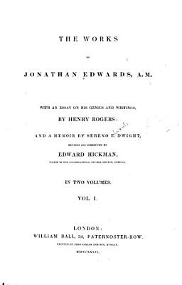 The Works of Jonathan Edwards  A M  PDF