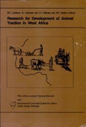 Recherche Pour Le D  veloppement de la Traction Animale en Afrique de L Ouest PDF